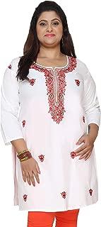 Plus Size Dress Women's Indian Tunics Cotton Kurti Long Top