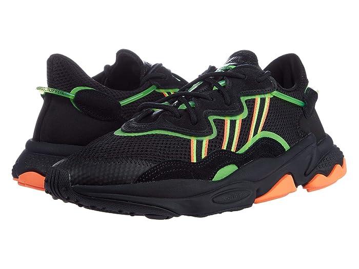 adidas Originals  Ozweego (Core Black/Solar Green/Hi-Res Coral) Mens Shoes