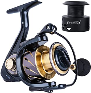 Sougayilang Spinning Reels Fishing Reel with 13 +1 Corrosion Resistant Ball Bearings, W-Ship Gearing, Silent Drive, SXS Br...
