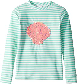 Magic Two-Way Sequins Mermaid Shell Rashguard (Little Kids/Big Kids)