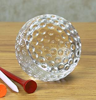 """BANBERRY DESIGNS Golf Ball Trophy – Crystal Golf Balls Paperweight – 2 ½"""" Diam. – Gift Boxed- Gifts for Dad - Birthday Gif..."""