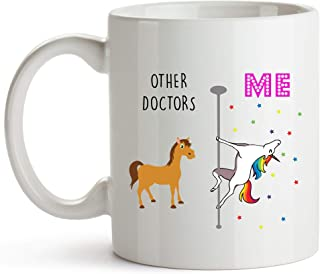 Younique Designs Doctor Mugs Gifts, 11 Ounces, White, Unicorn Mug, Thank You Gift for Doctor