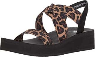 Yellow Box Women's Bunkie Wedge Sandal Leopard 6 M US