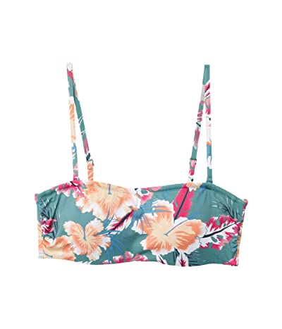 Roxy Print Beach Classics Underwire Swim Bandeau (North Atlantic Heritage Haw) Women