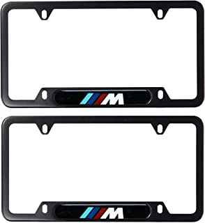 Carps (Set of 2 BMW License Plate Frame M Series Black/Screws and Caps Included.