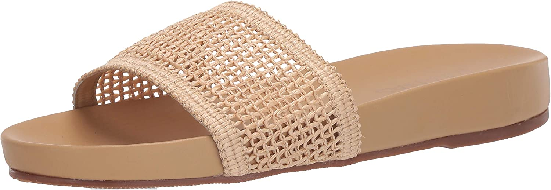 KAANAS Women's Vis Fishnet Strap Flat Slip on Pool Slide Sandal