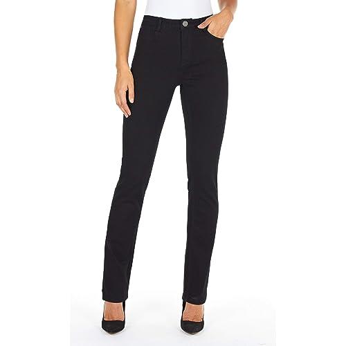 4ada1117 FDJ French Dressing Jeans Womens Supreme Denim Olivia Straight Leg in Black