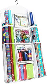 """Extra Large Legato Wrapping Paper Storage/Organizer, Double Sided and Super Durable, Great for Gift Wrap, Gift Bags, and Accessories, Large Size (47"""" x 23"""")"""