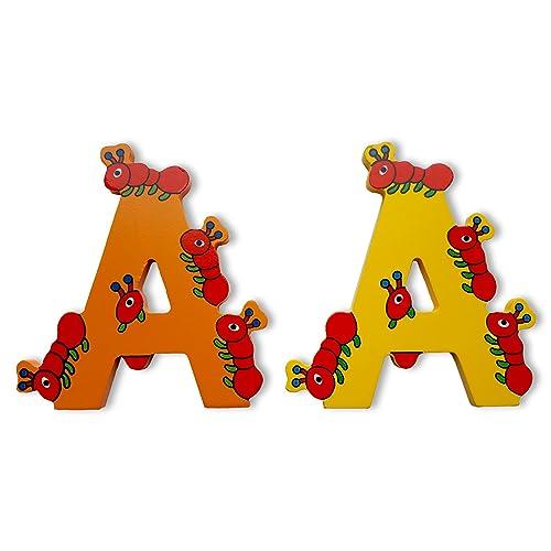 C Wooden Jungle Animal Upper Case Alphabet Letters Self Adhesive