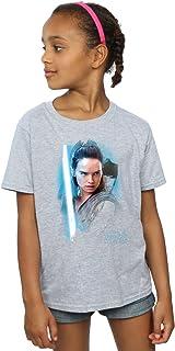 Star Wars Fille Force Awakens Poster T-Shirt 9-11 Years Noir