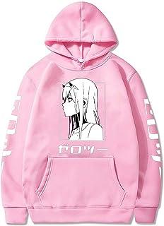 Darling in The Franxx Men Women Unisex Hoodies Sweatshirts Zero Two Hoodie, Anime Zero Two Cosplay Costume Long Sleeve Hoo...