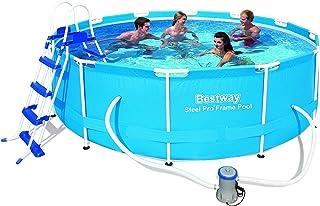 Bestway 12pies x 39.5-inch 366x 100cm acero Pro marco piscina conjunto con bomba y escalera