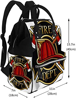 Nappy Bags Fire Department Or Firefighters Maltese Cross Symbol Diaper Bags Backpack