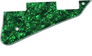 Musiclily Electric Guitar Pickguard for Gibson Les Paul Modern Style Guitar Parts, 4Ply Pearl Green