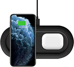Dual Wireless Charger,FDGAO 20W 2 in 1 Wireless Charging Stand for iPhone 11/11 pro/X/XS/XR/8/SE,Airpods Pro/2,Qi Wireless...