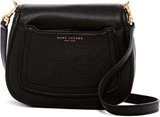 Empire City Mini Messenger Leather Crossbody Bag (Black), Small