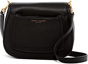 Marc Jacobs Empire City Mini Messenger Leather Crossbody Bag (Black), Small