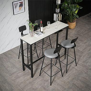 DALIZHAI777 Table Haute Table et chaises de Bar sur Le Mur Long Bar Table Balcon Tea Shop Tableau de Bars de Table High Table