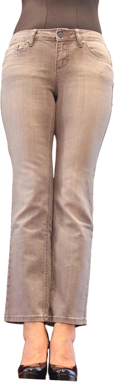Earl Jean Women Grey Slim Epmp131 Pocket Embroidery 1着でも送料無料 ショップ and Boot