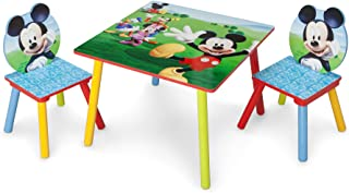 Delta Children Kids Table and Chair Set (2 Chairs Included) - Ideal for Arts & Crafts, Snack Time, Homeschooling, Homework & More, Disney Mickey Mouse
