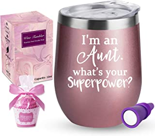 Aunt Gifts from Niece Nephew, Funny Gifts for Aunts- I'm an Aunt, What's Your Superpower, BAE Gifts for Birthday, Great Au...