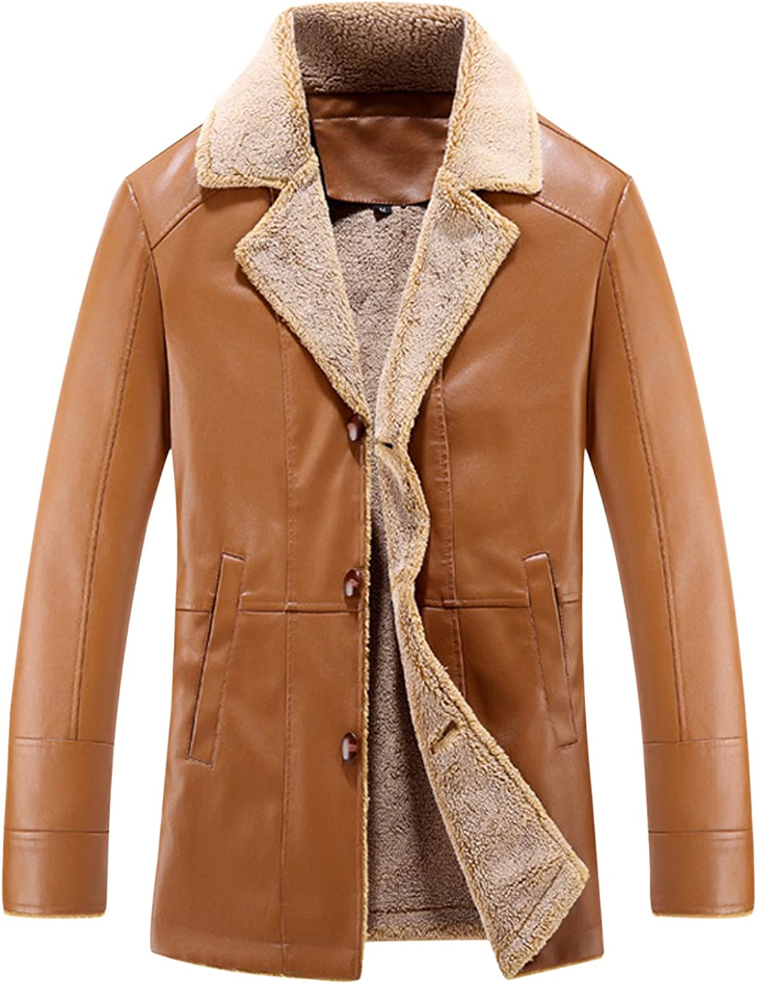 Sales for sale Tanming Men's Classic Sherpa Lined Outerwear Sale price Faux Jacket Leather