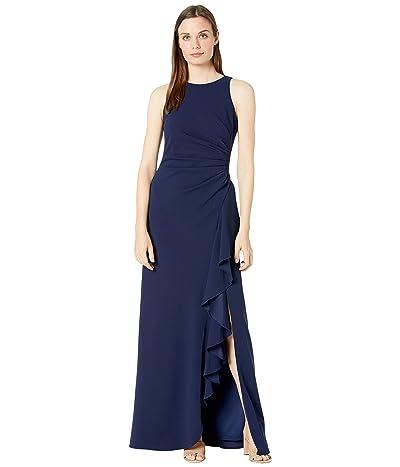 Alex Evenings Long Sleeveless Dress with Ruffle Detail Skirt Women