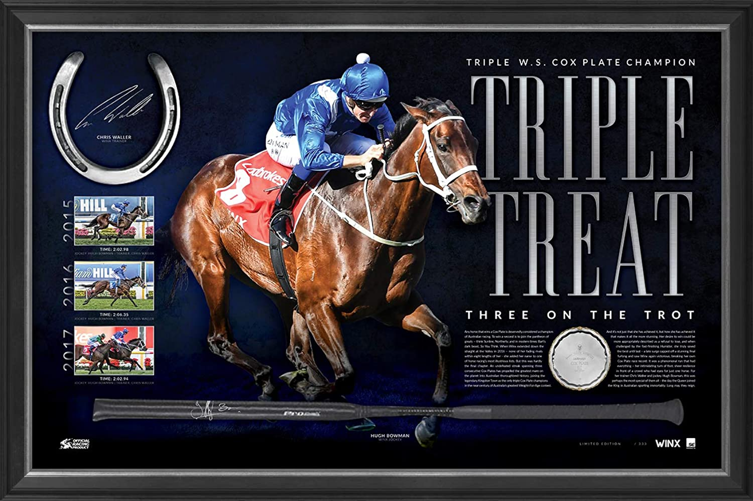 Sport Entertainment Products Winx Signed 'Triple Treat'