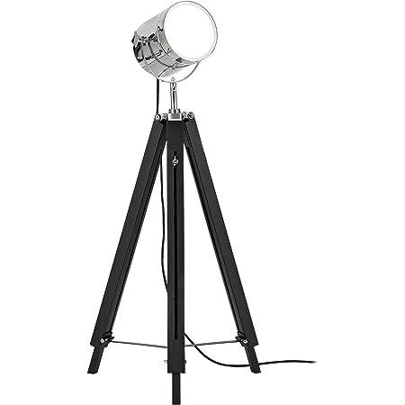 lux.pro] lampadaire tripode (1 x Socle E27)(64cm - 140cm) Design Industriel trépied tripode tripode télescope Chrome Lampe sur Pied luminaire