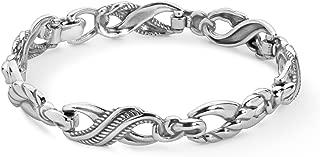 Sterling Silver Infinity Link Bracelet Size S, M or L