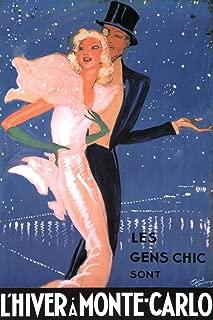 Jean Gabriel Domergue L Hiver A Monte Carlo Les Gens Chic Sont Vintage Advertisement Cool Wall Decor Art Print Poster 12x18