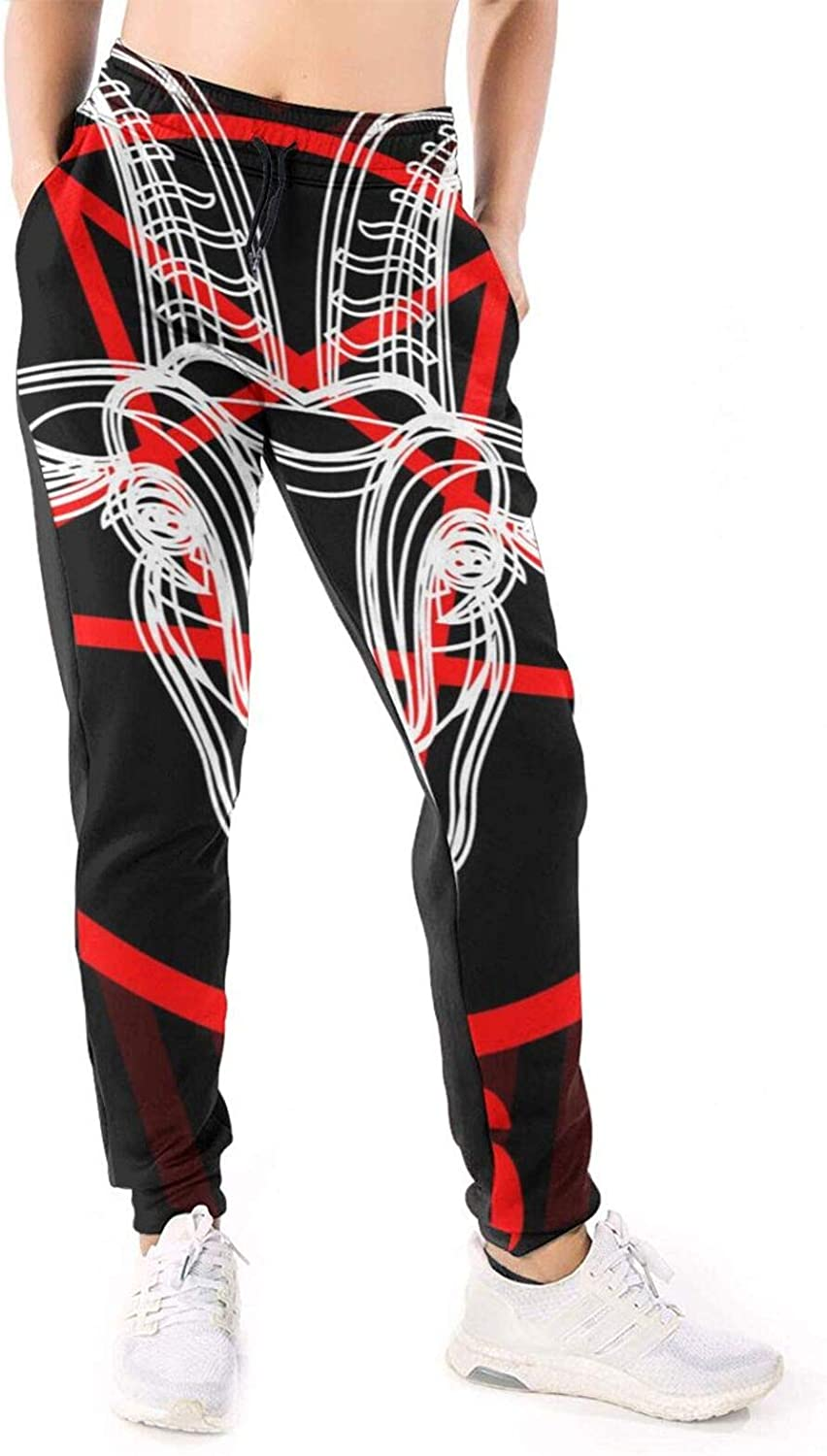 Women Joggers Pants Satanic Goat Head Athletic Sweatpants with Pockets Casual Trousers Baggy