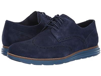 Cole Haan Original Grand Wingtip Oxford (Marine Blue Suede/Stellar) Men