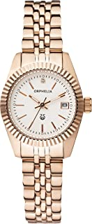 Women's Analogue Eternity Rose Gold Stainless steel-12506