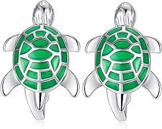 HONEY BEAR Cufflinks for Men - Sea Tortoise Turtle, Stainless Steel Wedding Gift