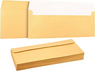 50 Pack #10 Gold Business Envelopes - Value Pack Square Flap Envelopes - 4 1/8 x 9 1/2 Inches - 50 Count, Gold