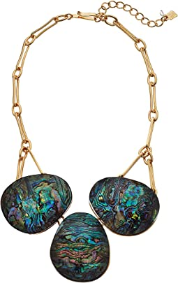 Robert Lee Morris - Abalone and Gold Frontal Necklace