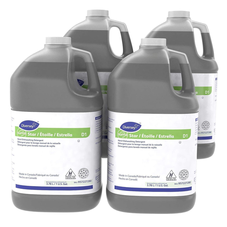 Diversey Suma Star D1 Dishwashing Detergent (1-Gallon, 4-Pack)