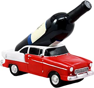 Ebros Gift Classic Red Vintage Bel Air Automobile Car Wine Holder 11.5