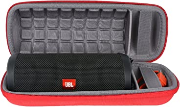 co2crea Hard Carrying Travel Case for JBL Flip 3 4 Waterproof Portable Bluetooth Speaker, Red