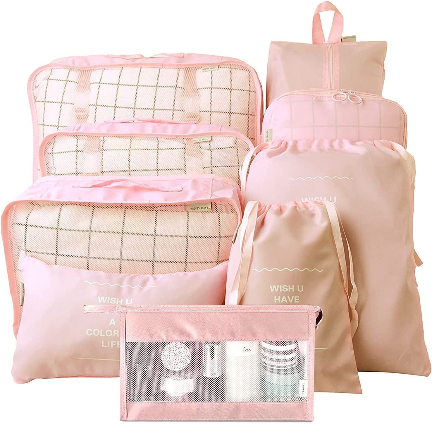 Packing Cubes for Lowest price challenge Charlotte Mall Travel Luggage 9 Organizer Suitcase