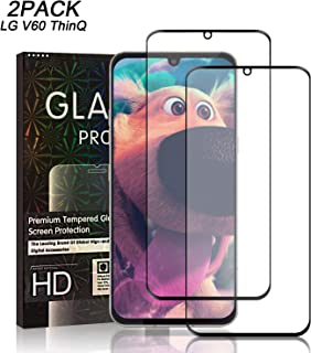 JKPNK LG V60 ThinQ Glass Screen Protector [2 Pack], Full Coverage HD Anti-Scratch [Bubble-Free] Glass Screen Protector for LG V60 ThinQ