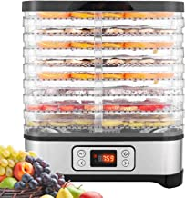 Dörrautomat mit Temperaturregler, Dörrgerät für Lebensmittel, Fleisch Frucht..