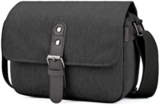 CADeN Compact Camera Shoulder Bag Case Compatible for Nikon, Canon, Sony SLR/DSLR Mirrorless Cameras and Lenses Waterproof Black