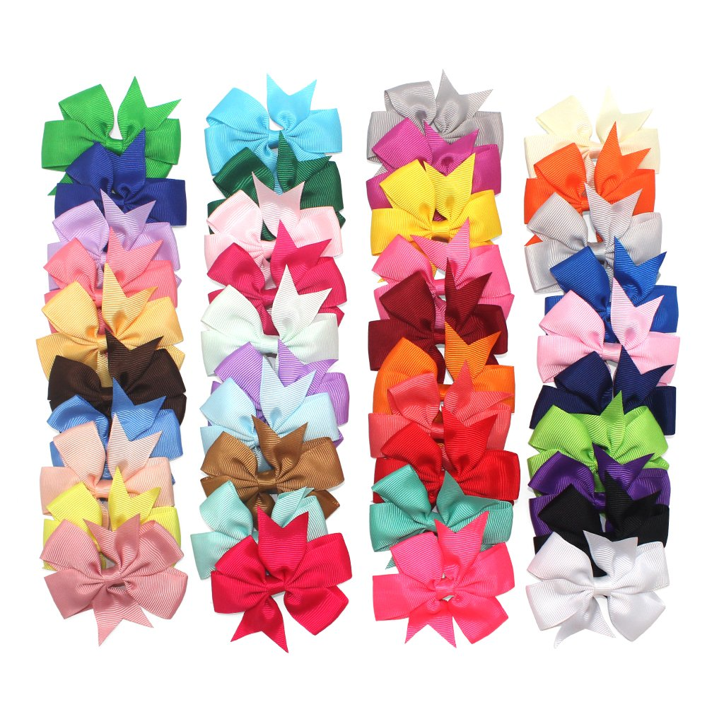 Baltimore Mall 40Piece Boutique Grosgrain Ribbon Pinwheel Bows Hair C All stores are sold Alligator