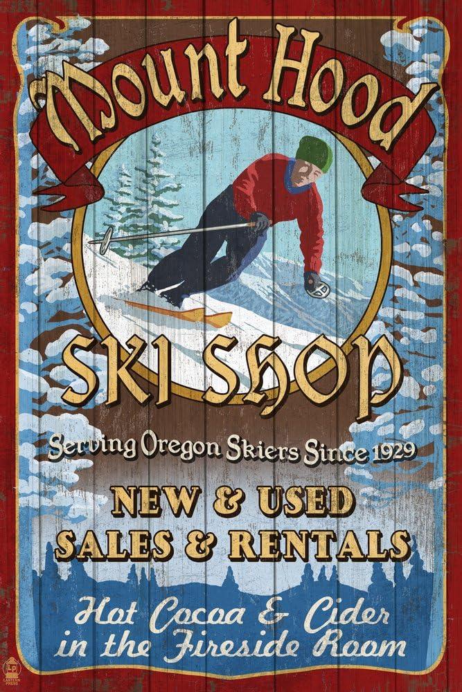 Mt. Hood Gorgeous Oregon - Ski Quantity limited Shop Giclee Gallery Vintage P Sign 36x54