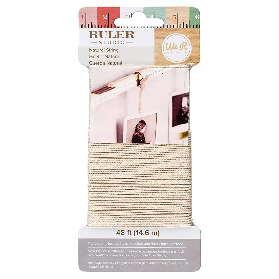 American Crafts We R Memory Keepers Ruler Studio Natural String 48 feet