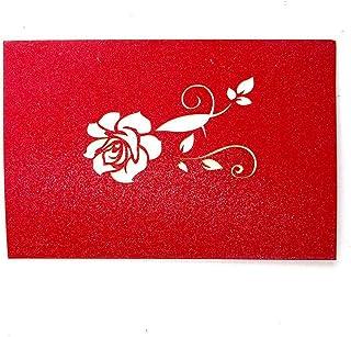 Cartoline D'auguri Schioccate 3D Carte da Regalo Romantiche San Valentino di Nozze del Modello Fiore di Amore