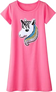 New Girls Unicorn Rainbow Shirt Dress RRP £18 Ex Highstreet Sizes  3m 7 years