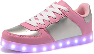 BY0NE Unisex LED Shoes USB Charging Flashing Sneakers Light up Shoes for Women Men